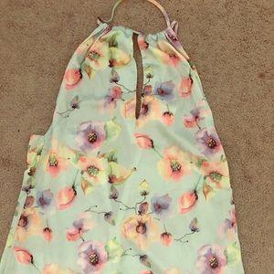 Tobi silk floral dress